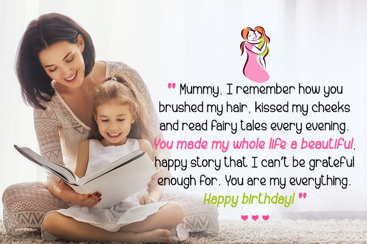 Mummy, I remember how you brushed my hair, kissed my cheeks