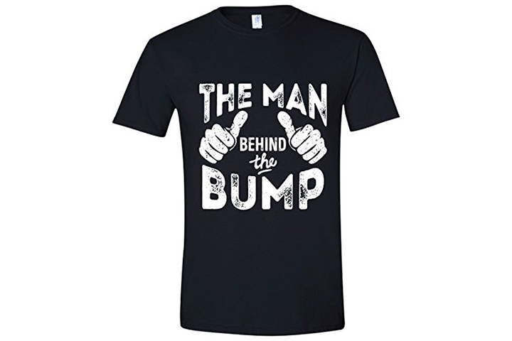 'Man behind the pregnancy' dad T-shirt