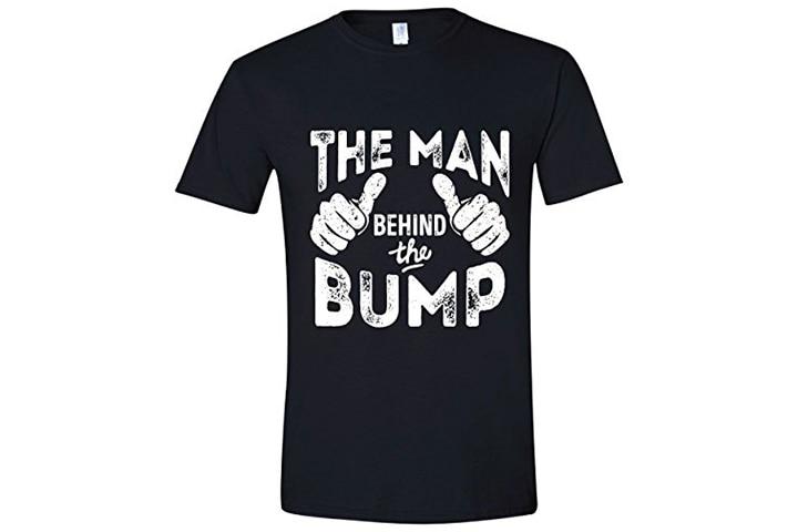 'Man behind the pregnancy' dad T-shirt
