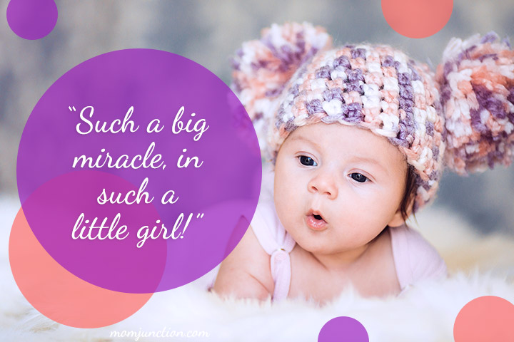 """Such a big miracle, in such a little girl!"""