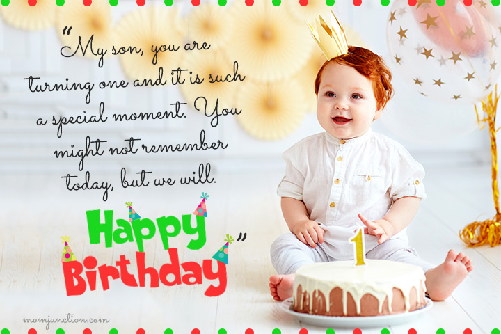 Miraculous 106 Wonderful 1St Birthday Wishes And Messages For Babies Personalised Birthday Cards Veneteletsinfo