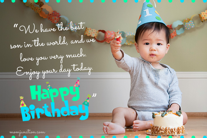 1st Birthday Wishes For Son1