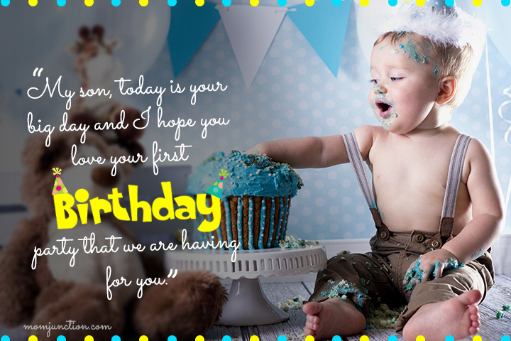First Birthday Wishes from Parents to Son