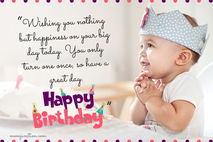 106 wonderful 1st birthday wishes and messages for babies happy 1st birthday message for my son m4hsunfo