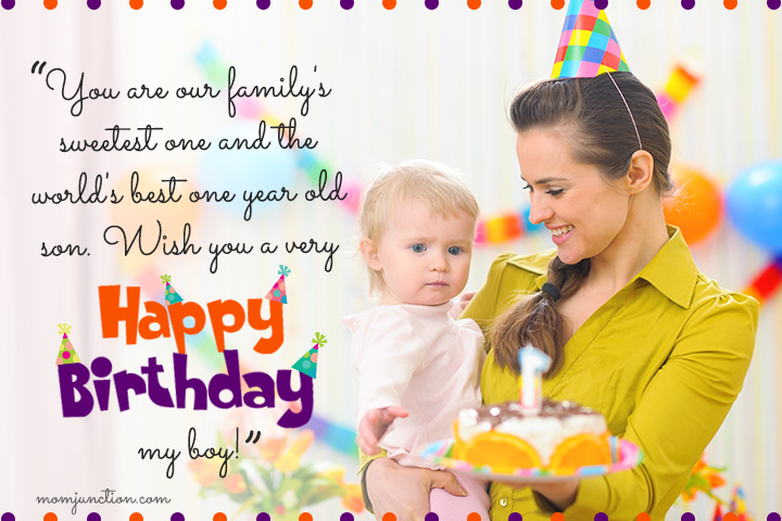 106 wonderful 1st birthday wishes and messages for babies happy 1st birthday to my son from mom m4hsunfo