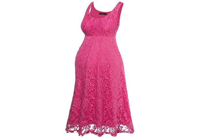 HARHAY sleeveless lace tank dress for baby shower