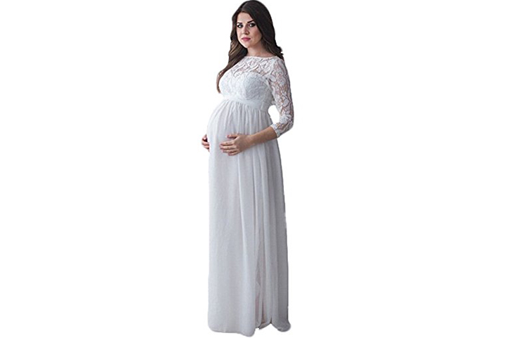 Long Sleeve Pregnant Bridesmaids Dress