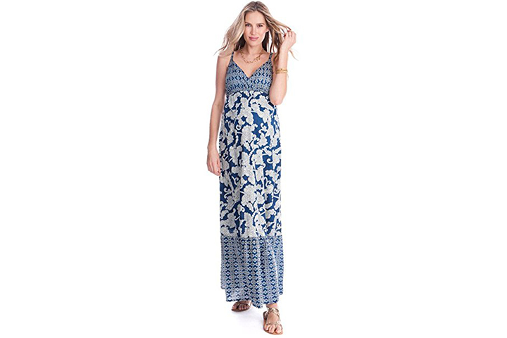 Matilda Bohemian print maternity maxi dress