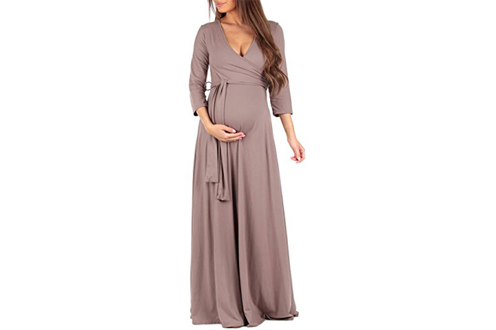 Mother Bee Faux Wrap Dress With Adjustable Belt