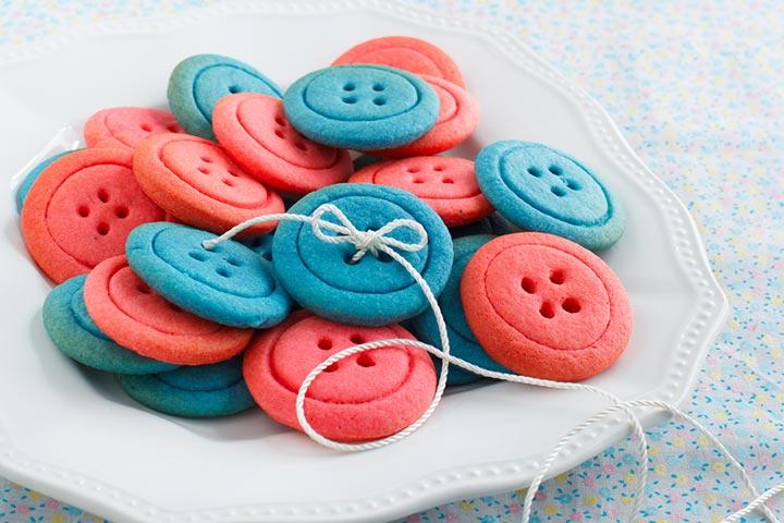 Vanilla button cookies