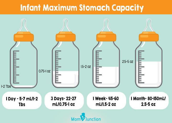 How much formula should a 5 month old be eating