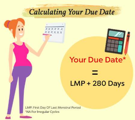 Due date calculator based on implantation