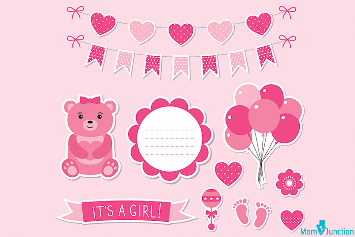 'It's a girl' banner