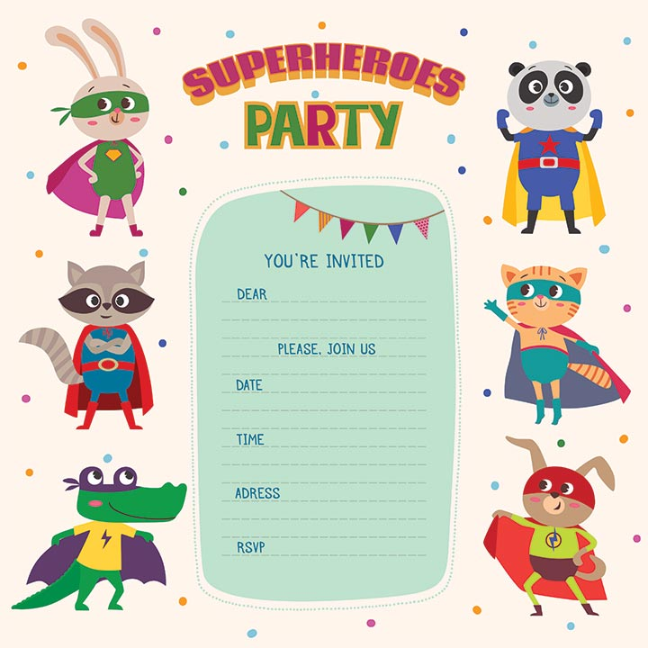 17. Superhero invite