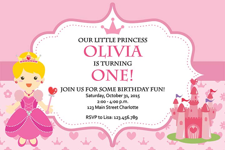 22. Princess invite