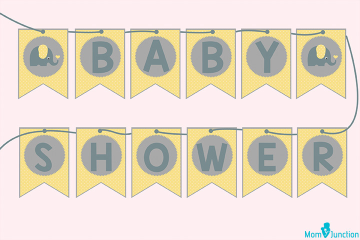 Baby Shower Elephant banner