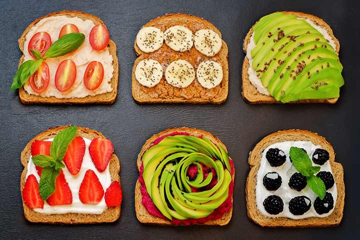 Chia seeds sandwich