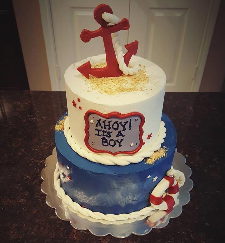 Life preserver cake