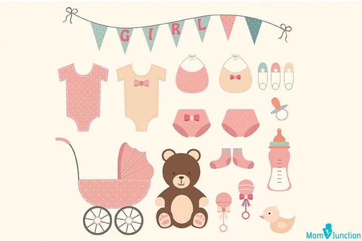 Little frock banner for baby shower