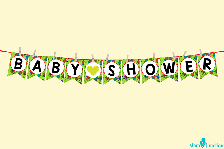 Personalised Baby Shower Printed Banner