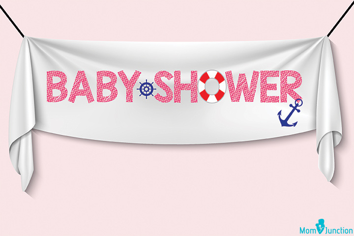 Simple 'It's a baby boy' banner