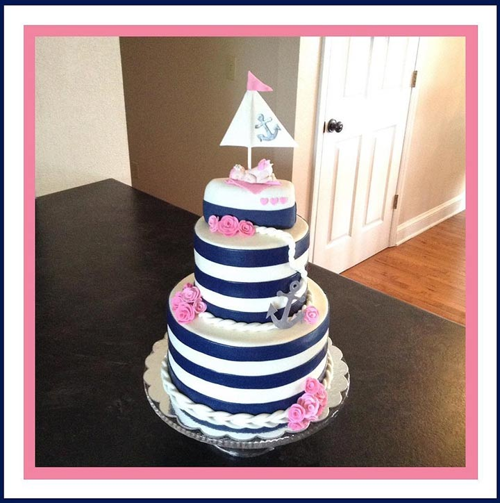 Three-tier cake