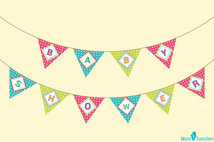 Triangle Baby Shower Party Banners
