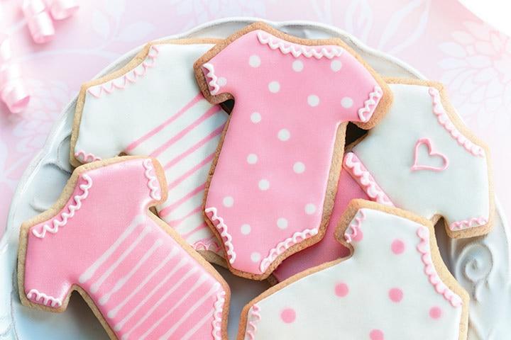 Onesie sugar cookies prizes for guest