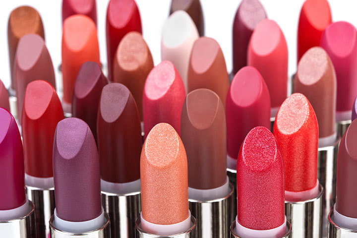 A set of lip-paints