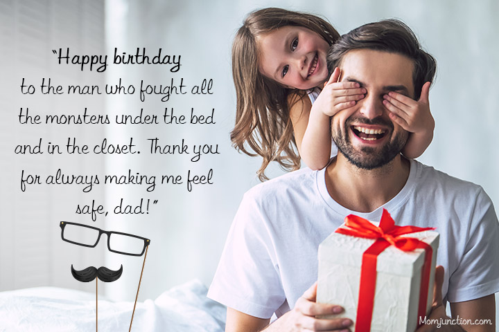 Happy Birthday Papa from Little Angel