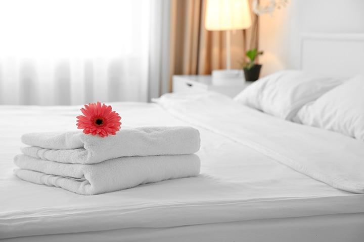 White linen sheets