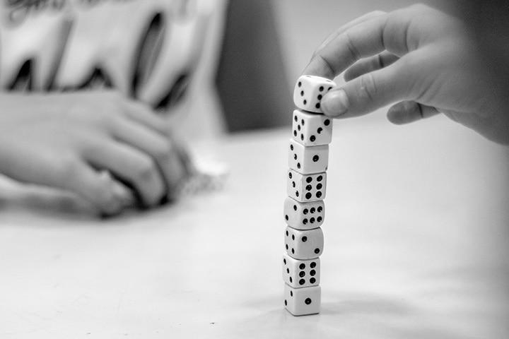 Balancing dice