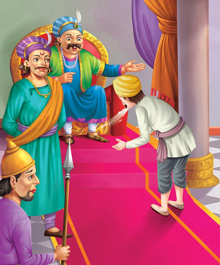 Birbal helps the gardener