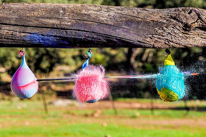 Family Games of Water Balloon Pinata