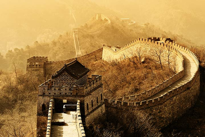 Great Wall of China start and end