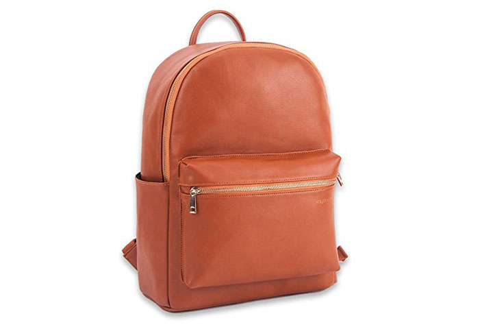 Kaydee Baby Faux Leather Diaper Bag Backpack