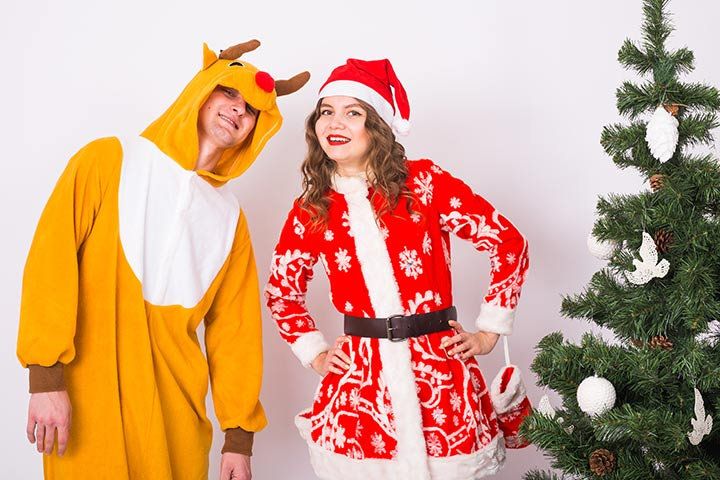 Santa and His Reindeer Costumes for Couples