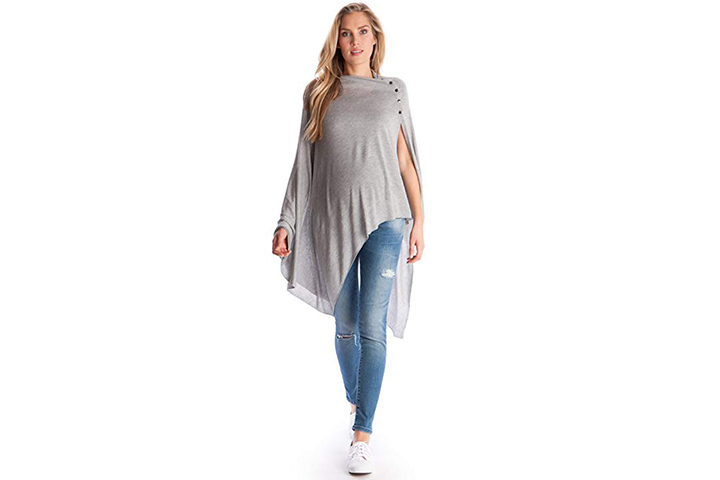 Seraphine Madison Maternity Summer Bamboo Poncho & Nursing Shawl
