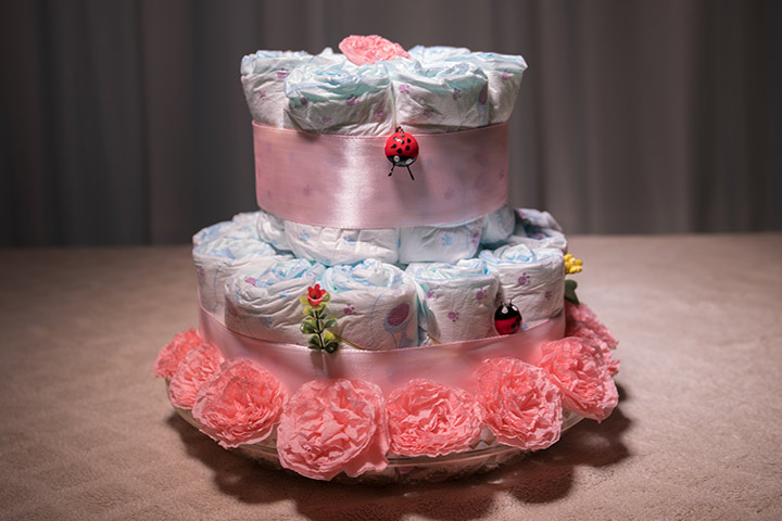 Small diaper cake idea