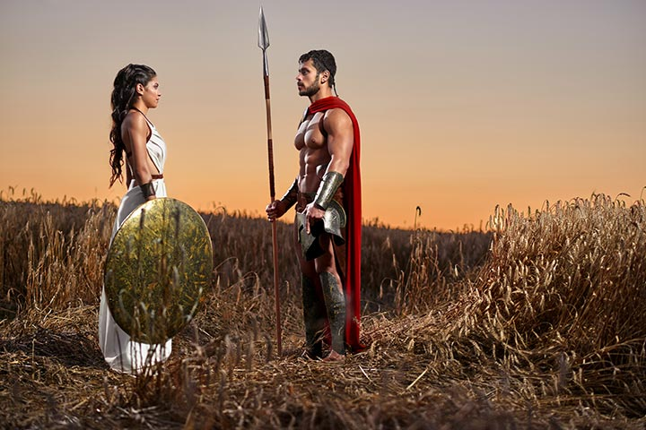 Spartan Warrior and Queen Costumes for Couples