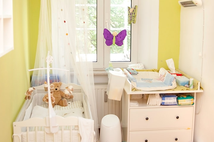 Baby boy room idea for small spaces