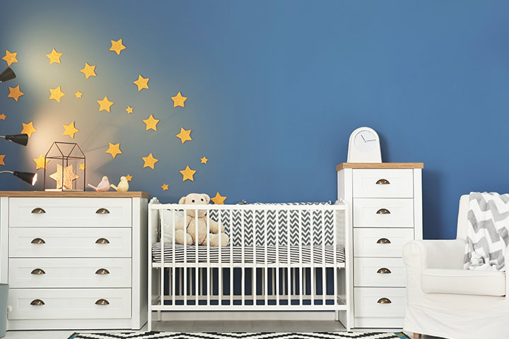 Blue baby room idea