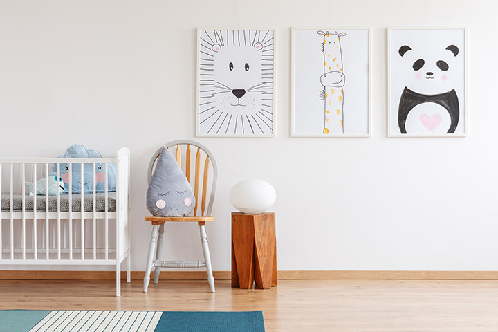 Budget-friendly baby boy room idea