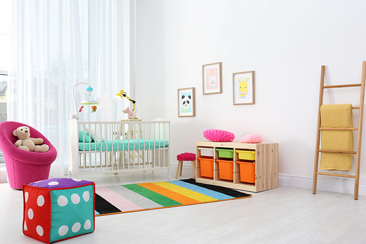 Colorful baby boy room idea