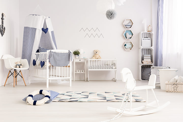 Nautical theme baby boy room idea