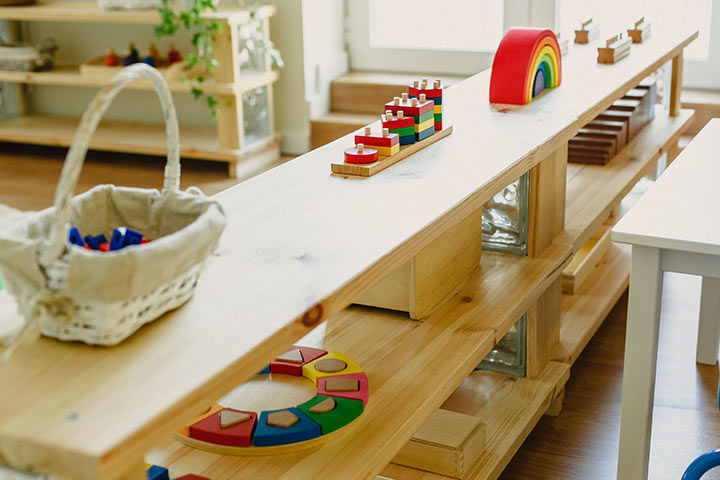 Play Table Cum Shelves