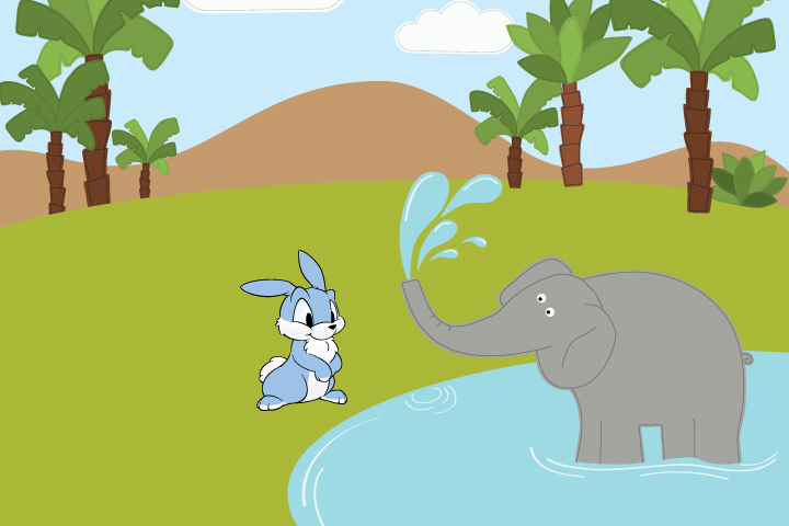 Rabbits, elephants