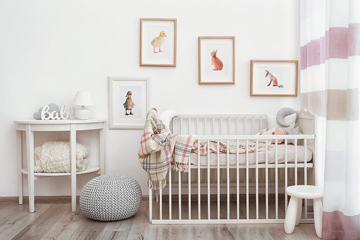 Simple baby boy room idea
