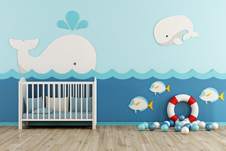 Under-the-sea theme baby room idea