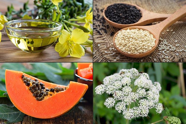 Seeds termination pregnancy sesame in Vitamin C